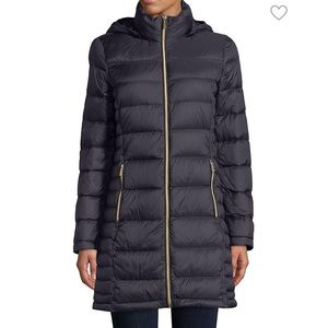 """Micheal Kors The 30"""" Packable Navy Winter Jacket"""